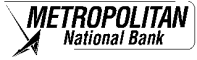 Metropolitan National Bank Logo
