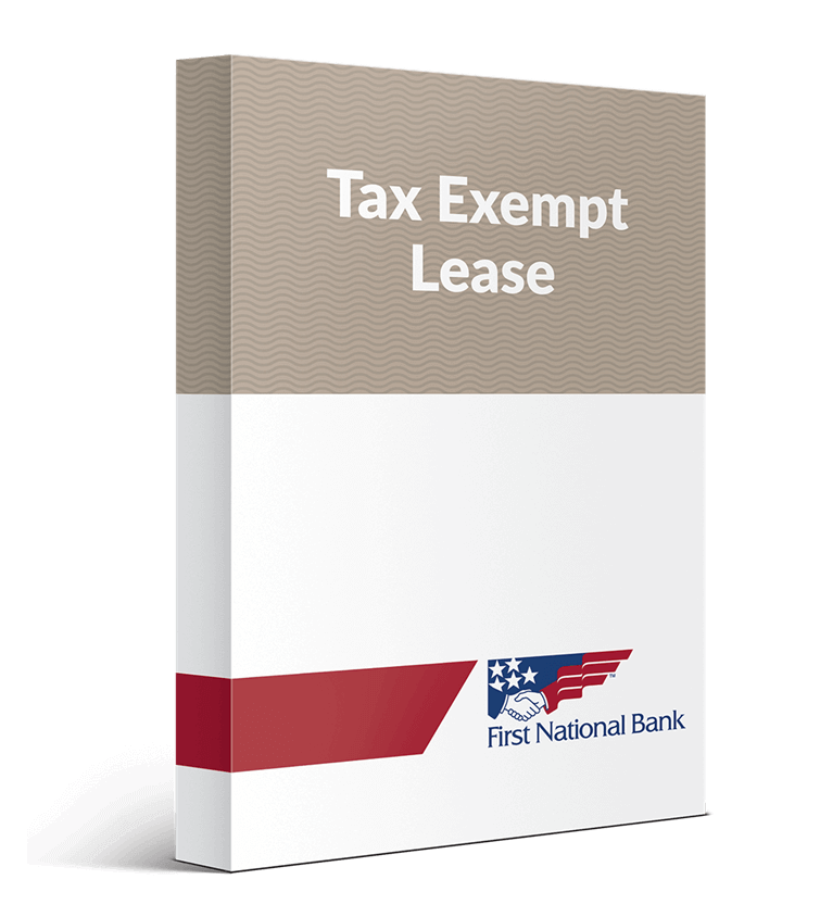 Tax Exempt Lease box