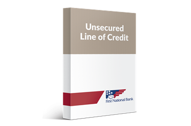 Unsecured Line of Credit box